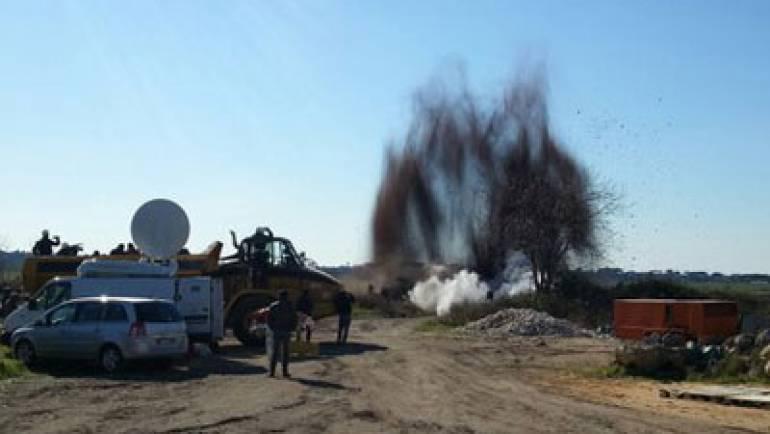 Rimosso e fatto brillare l'ordigno bellico ritrovato presso il depuratore comunale di Ciampino