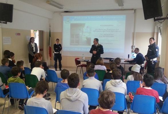 Cyberbullismo e pericoli del web: la Polizia Locale incontra gli studenti delle scuole medie di Ciampino.