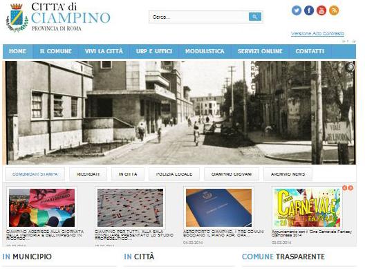 www.ciampino.gov.it e www.polizialocaleciampino.it: Restyling dei siti web nel segno della trasparenza e dei servizi