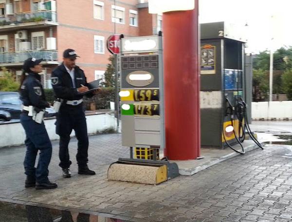 Ciampino: la Polizia Locale controlla i prezzi dei benzinai. Il 25% sono irregolari
