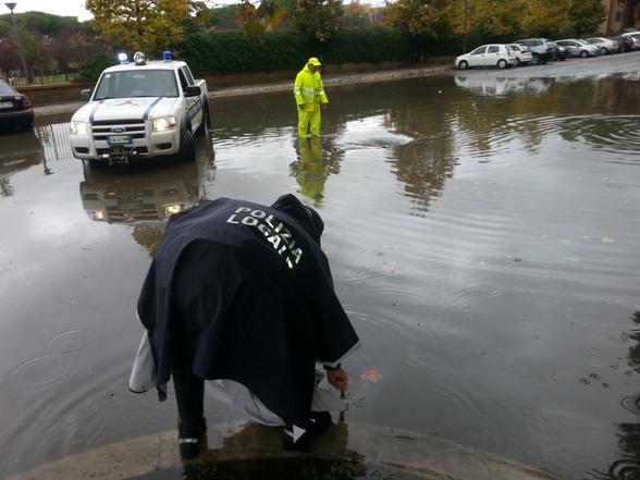 Ciampino. La pioggia di un mese invernale caduta in un solo giorno. Gli interventi messi in atto dal comune.