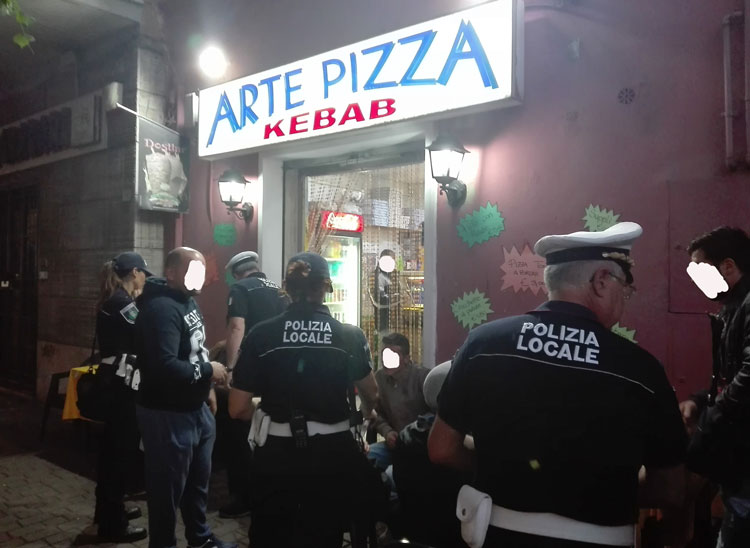 Ciampino. Interrotta l'attività di bivacco e degrado presso una pizzeria-kebab del centro
