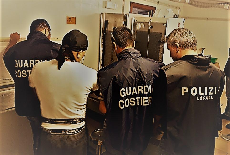 Ciampino. Guardia Costiera e Polizia Locale sequestrano diverse quantità di pesce presso un mercato giornaliero e un ristorante