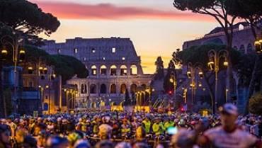 """Domenica 14 ottobre 2018: manifestazione sportiva """"Granfondo Campagnolo Roma""""."""