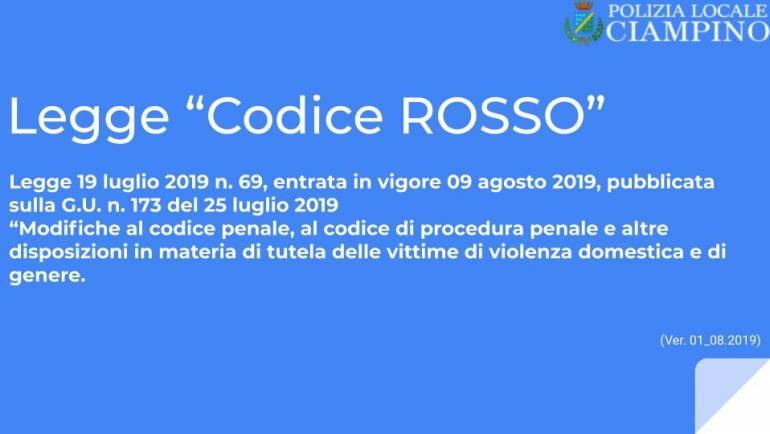 """Violenza di genere e """"Codice Rosso"""": formazione teorico-operativa per la Polizia Locale di Ciampino"""