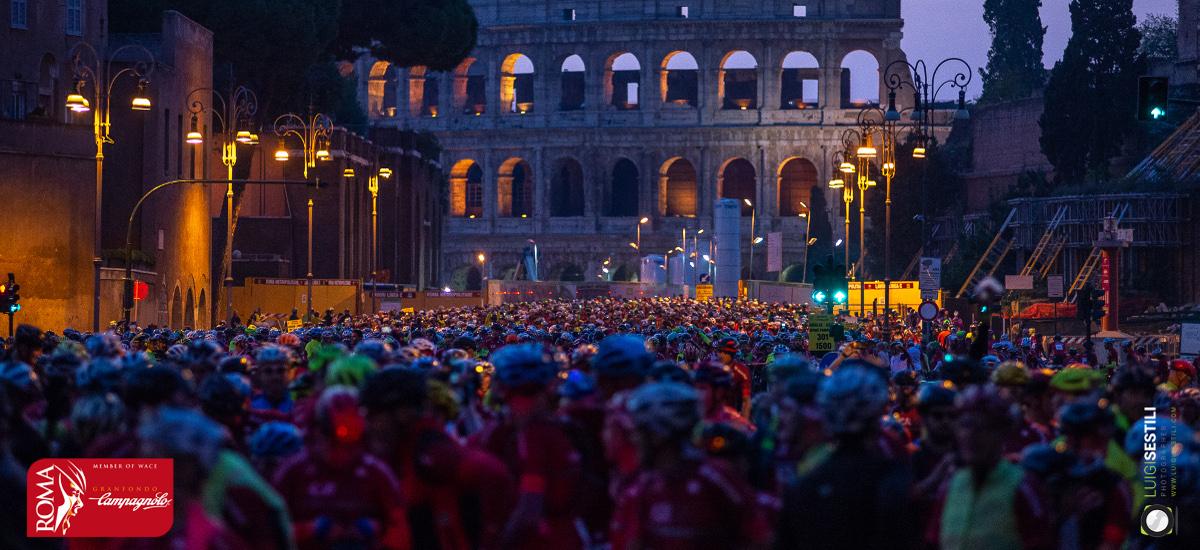 """Domenica 13 ottobre 2019: manifestazione sportiva """"Granfondo Campagnolo Roma""""."""