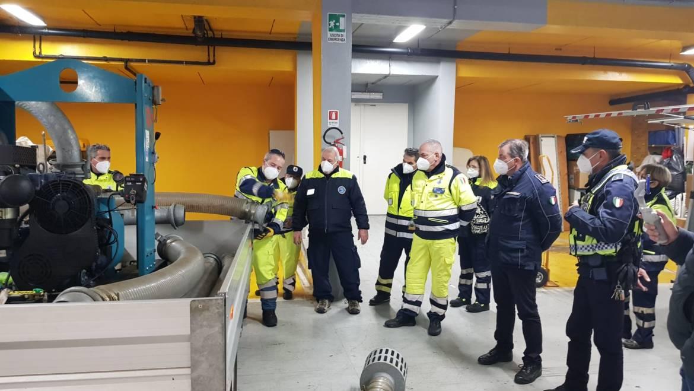 Prima esercitazione anno 2021 della Protezione Civile della città di Ciampino. Simulato un intervento per allagamento e assistenza alla popolazione.